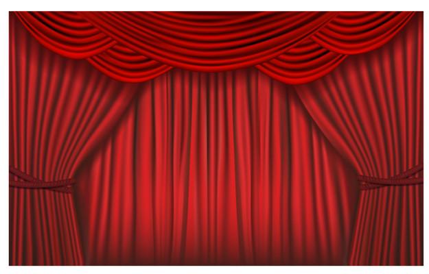 舞台背景红色幕布