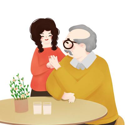 原创关爱陪伴老人
