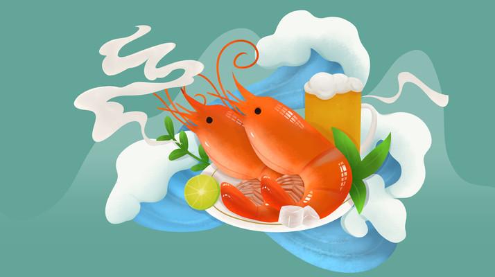 原创美食虾