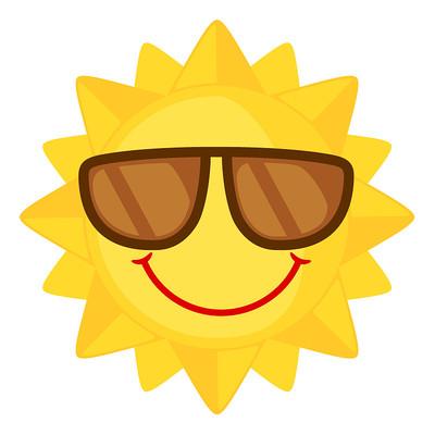 装酷表情的太阳公公