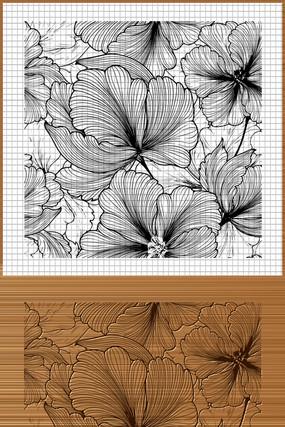 植物花纹矢量背景