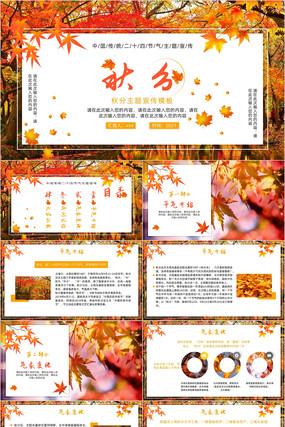 中国二十四节气秋分节气PPT模板