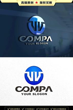 W字母LOGO设计W字母标志商标