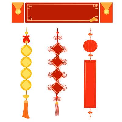 标题框新年中国风