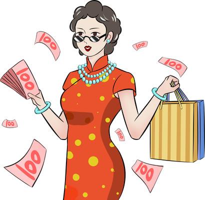 国潮人物购物促销