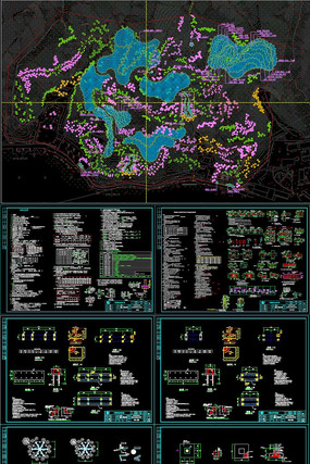 某城镇绿化升级改造景观CAD施工图