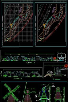 特色国家森林公园全套CAD施工图
