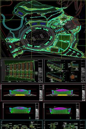 体育文化公园景观全套CAD施工图