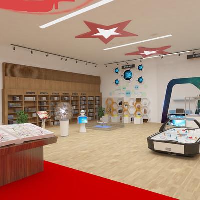 现代科技展厅模型