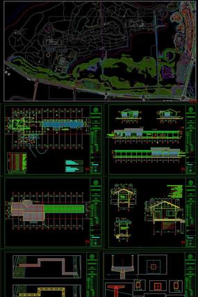 著名湿地公园景观提升工程CAD施工图纸