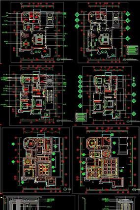 别墅全套施工图CAD带效果图