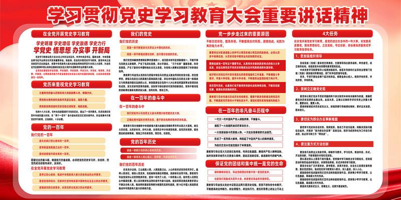 党史学习教育动员大会宣传栏