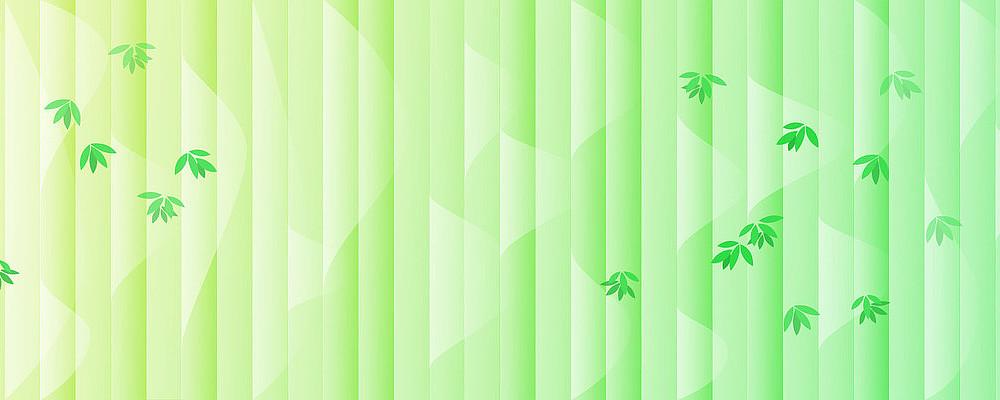 绿色清新风格自然竹韵banner背景素材