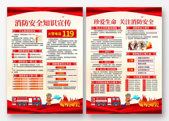 119消防安全知识宣传单设计