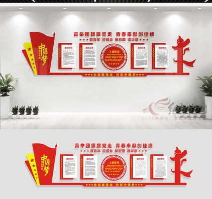 共青团文化墙宣传展板
