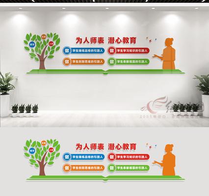 教师办公室文化墙设计