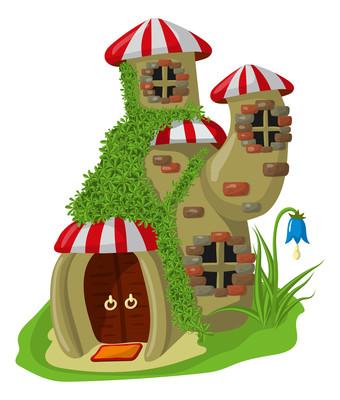 彩色蘑菇梦幻城堡