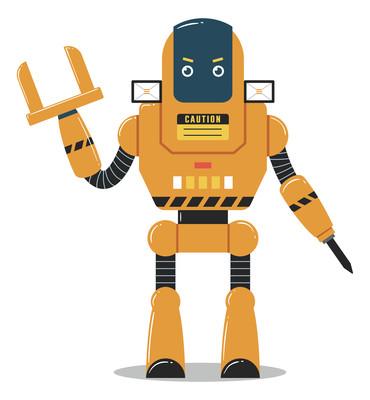卡通免抠机器人高清PNG素材
