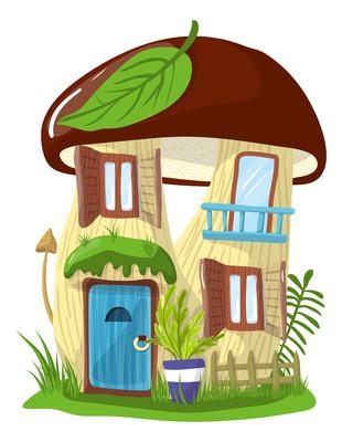 蘑菇形状的梦幻城堡