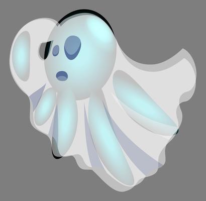 双重影子的卡通幽灵