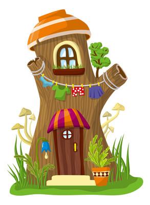 树桩形状的梦幻木屋
