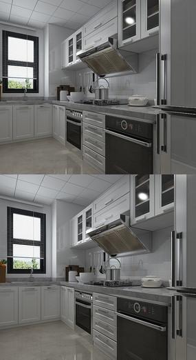 现代厨房家居3D模型