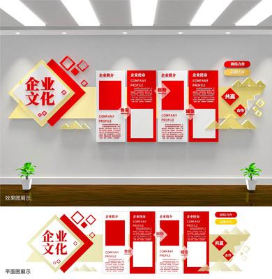 企业文化宣传公司员工文化墙设计