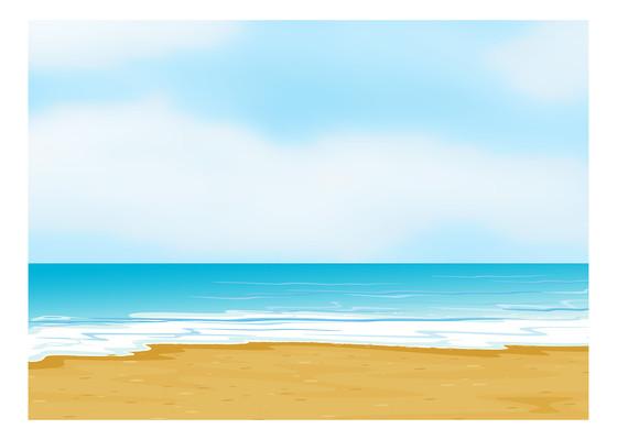 假日海边沙滩背景
