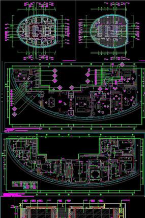高端公寓全套施工图CAD