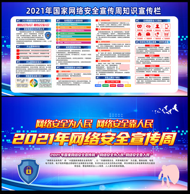 2021年网络安全宣传周宣传展板