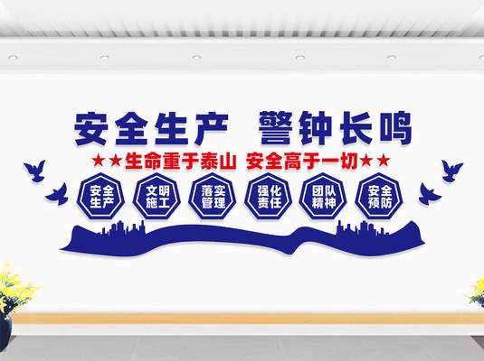 安全生产文化墙标语