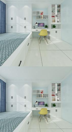 北欧榻榻米卧室3D模型
