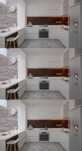简约现代厨房3D模型