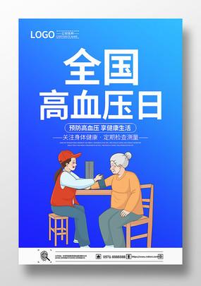 全国高血压日宣传海报