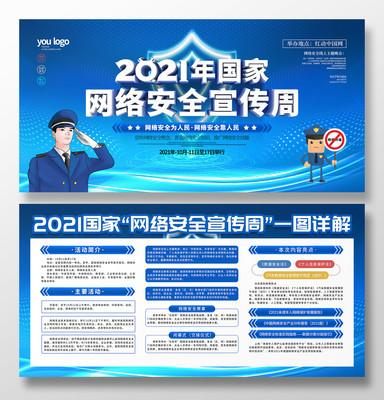 原创C4D2021国家网络安全周宣传展板