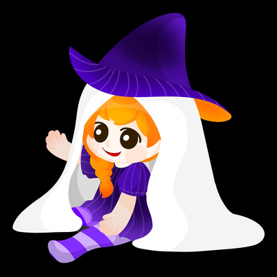 原创幽灵小女巫万圣节
