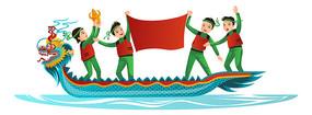 中国传统节日赛龙舟比赛