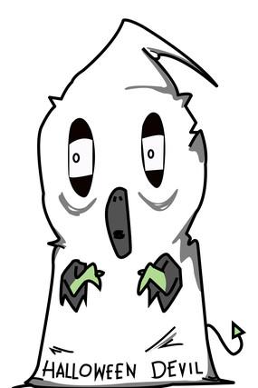 丑陋的幽灵扮演