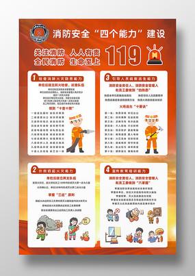 卡通风格消防安全海报