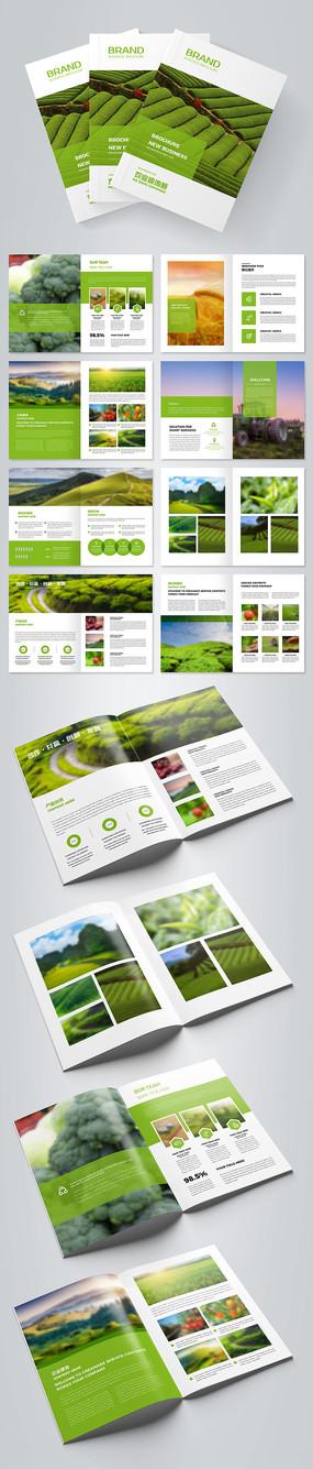 绿色农业画册农产品画册设计模板