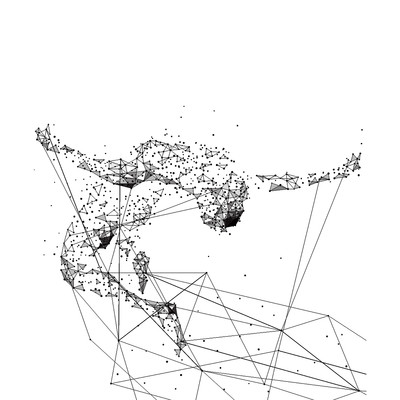 奥运几何人物卡通线条背景