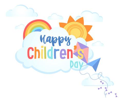 儿童节快乐元素