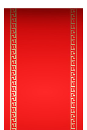 卡通红色背景海报元素