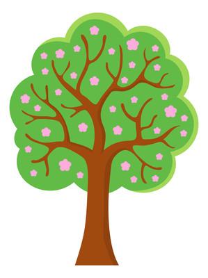漫画风花朵树元素