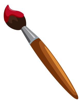 染色的毛笔元素