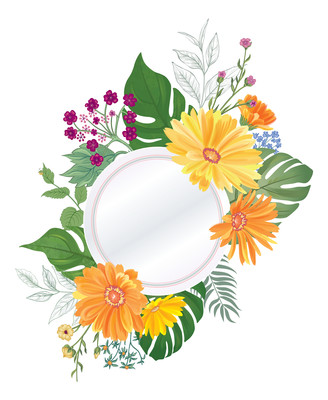 原创手绘花卉装饰png