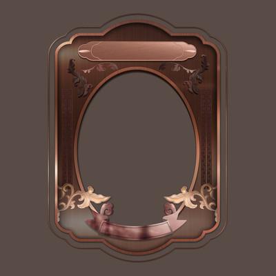 玫瑰金复古金属立体浮雕主题边框