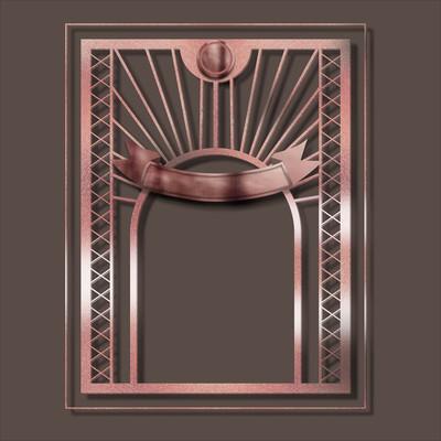 棕色复古金属立体浮雕主题边框