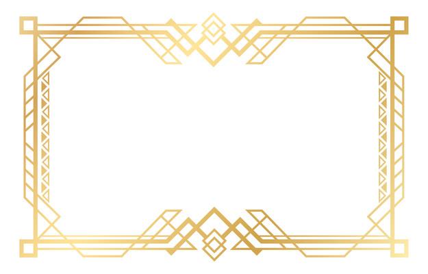创意金色边框