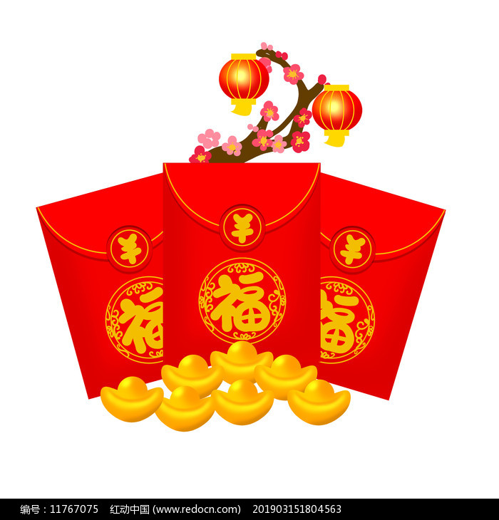 虎年新年红包图片